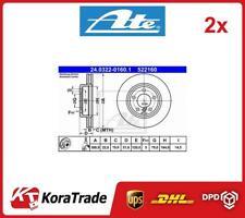 2x 24-0322-0160-1 ATE OE QUALITY BRAKE DISC SET