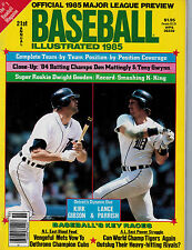 Baseball Illustrated 1985 Edition Kirk Gibson & Lance Parrish- Detroit Tigers