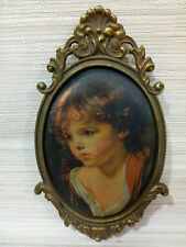 Antiques The art of silk-screen printing of a figure boy a rare decoration