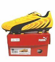 Puma One 20.4 FG AG Youth Soccer Cleats Yellow Black 105840 01 Size 4.5C