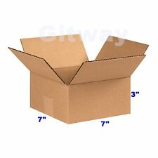25 Pack 7x7x3 Corrugated Carton Cardboard Packaging Shipping Mailing Box Boxes