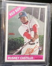 Rusney Castillo 2015 Topps Heritage Red AUTOGRAPH Auto /66 Rookie RC Red Sox