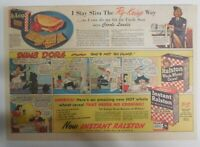 Ralston Cereal Ad: Dumb Dora, Carole Landis from 1940's Size: 11 x 15 inches