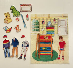 Vintage Felt Story Time Kids Play House 50+ Pieces