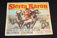 1958 Sierra Baron Lobby Card #1 58/251 Brian Keith Rita Gam (C-5)