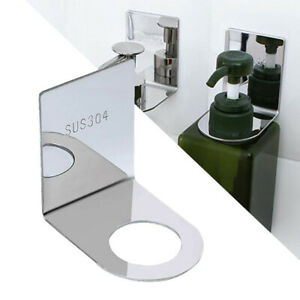 Stainless Steel Soap Bottle Hook Pump Dispenser Hook Holder Wall Mounted Rack