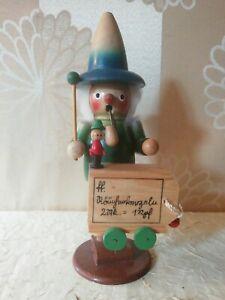 Räuchermännchen mit Bauchladen-Holz Erzgebirge-Weihnachten-Räucherkerzen