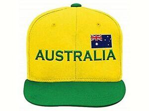 OUTERSTUFF International Soccer Teen Boys Youth Snapback Hat Ball Cap Australia