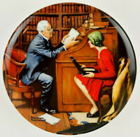 "Norman Rockwell 8.5"" Plate The Professor 1986 Rockwell Heritage Collection"