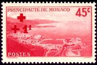 "MONACO STAMP TIMBRE YVERT N° 204 "" CROIX ROUGE  +1 F SUR 45c ""  NEUF x TB"