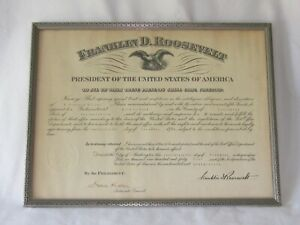 1944 President Franklin D. Roosevelt FDR Appointment Bird In Hand Pa. Postmaster