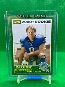 2009 Score 1989 Version Rookie #1 Matthew Stafford Detroit Lions/Rams