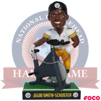 JuJu Smith-Schuster Pittsburgh Steelers Bike Celebration Bobblehead NFL