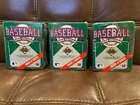 1990 Upper Deck Baseball High Series Set Sealed (701-800) - Lot Of 3