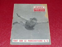 [AVIATION] REVUE PARA-PRESSE  N° 34 # MARS 1960 PARACHUTISME US Rare