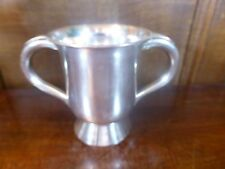 Antique OLD SHEFFIELD Silver Plate LOVING CUP/TANKARD with HANDLES - 10cms