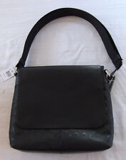 NWT Coach Charles Small Messenger Black Signature Crossgrain Leather F72220