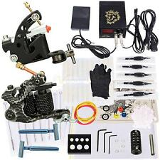 Pro Tattoo Machine Kit 2 Gun Shader Liner 50 Needles Cups Power Supply Set New