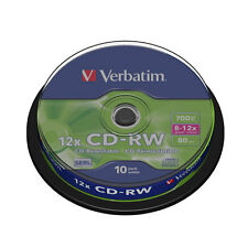 VERBATIM 10 CD-RW CD vuoto I Dischi Riscrivibili 700 MB 80 minuti Confezione 10 velocità 8-12x