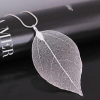 Creative Jewelry Leaves Leaf Pendant Sweater Chain Necklace For Women LD