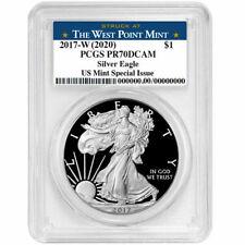 2017-W (2020) comprobante $1 American Silver Eagle PCGS PR 70 DCAM nos MINT tema especial