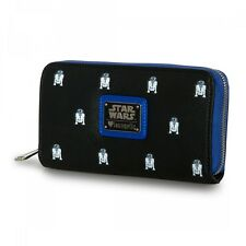 Star Wars R2-D2 Mini All Over Print Black Wallet by Loungefly NEW! FREE SHIPPING