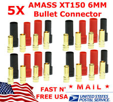 5 set AMASS XT150 6MM Bullet Connector Plug Red Black Male / Female 150 Amps USA