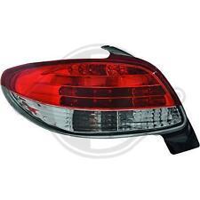 Coppia fari fanali posteriori TUNING PEUGEOT 206 98-05 3/5 porte LED ROSSI NO CC