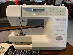 Janome memory craft sewing machine 3500 with lots of extras