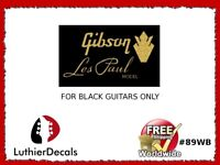 Gibson Les Paul Model Guitar Decal Headstock Restoration Waterslide Logo 89wb