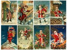 Vintage Santa Christmas Glossy Finish Card Making Topper - Crafts