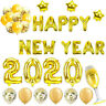 2020 Happy New Year Gold Silver Foil Balloon Party Christmas Gift Decoration HOT