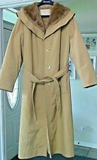 WEATHERBEE FASHION ORIGINAL Faux Fur Lined Water Repellent Full Length Coat