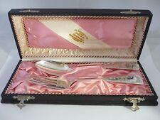 Stunning & Rare Cased Hallmarked Fork & Spoon Set  By W BECKER HAMBURG GERMANY