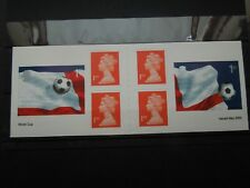 K 848   GREAT  BRITAIN  2002  WORLD  CUP BOOKLET     MNH
