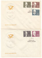 DDR, FDC Bedeutende Persönlichkeiten MiNr. 1386 - 1390 ESSt Berlin 17.07.1968