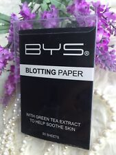 BYS Blotting Paper 50 Sheets - Formulated with antioxidant Green Tea Extract-NEW