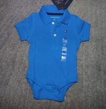 Tommy Hilfiger Baby Boys Blue Short Sleeve One-Piece - Size 6-9 Months - NWT