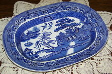 Wm. Adams England - Willow Blue - 11 3/8-inch Oval Serving Platter