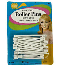 Vintage Solo Unbreakable Roller Pins- Extra Long- 30 Count NEW