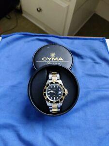 Cyma men's two tone automatic diver watch