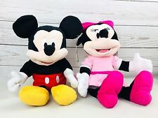 "NEW DISNEY BABY full body MICKEY MOUSE and MINNIE MOUSE plush 14"" HAND PUPPETS"