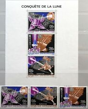 CAR CENTRAL AFRICAN REP. 1966 116-18 Block 5 C36-C38a Spacecraft on Moon Space