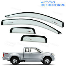 Weather Guards Visor Windshield White To Toyota Hilux Vigo Cab Pickup 2005 - 14