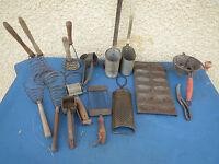 lot Ancien moulinette fouet moule mesure - ustensile de cuisine - Vintage.