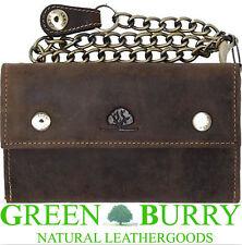 Greenburry Vintage Bikerbörse Kette 15,5x9,5x3cm Börse Leder braun *!bestprice!*