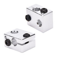 Aluminium Heat Block For 3D Printer V6 J-head Makerbot MK7/MK8 Extruder TDCA