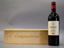 Personalised Congratulations - Wooden Wine / Spirit / Champagne Box