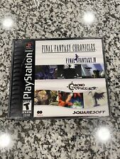 Final Fantasy Chronicles Black Label Sony Playstation Ps1 Video Game Complete