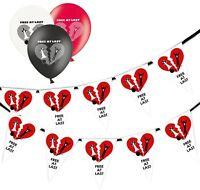 Divorce Happy Groom Bunting 15 flags & Pack of 5  Printed Latex Asst Balloons